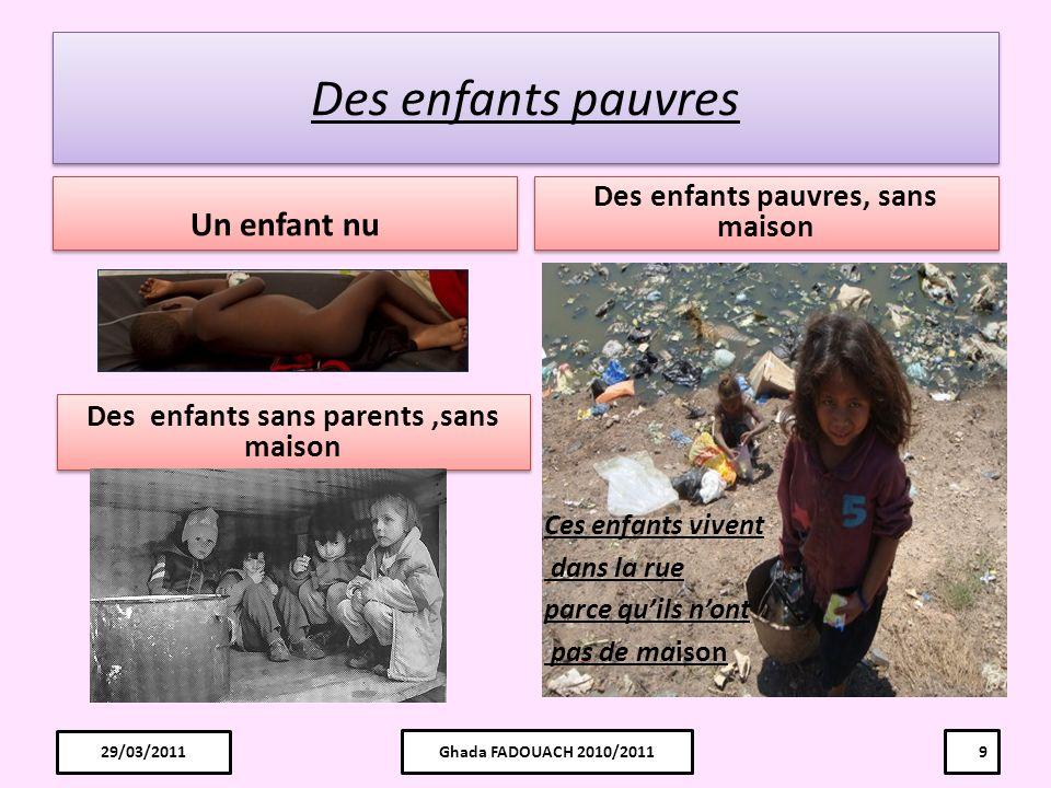 Des enfants pauvres, sans maison Des enfants sans parents ,sans maison