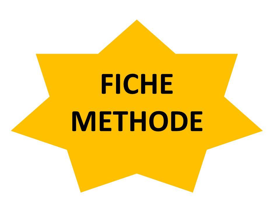 FICHE METHODE