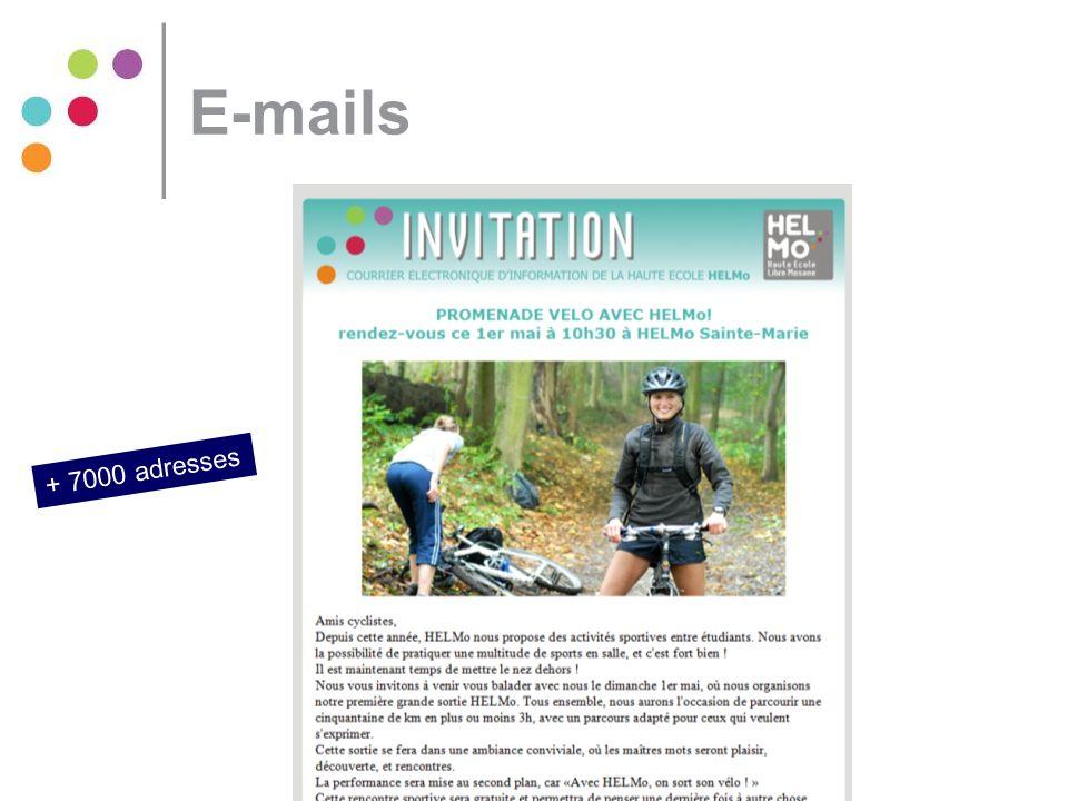 E-mails + 7000 adresses