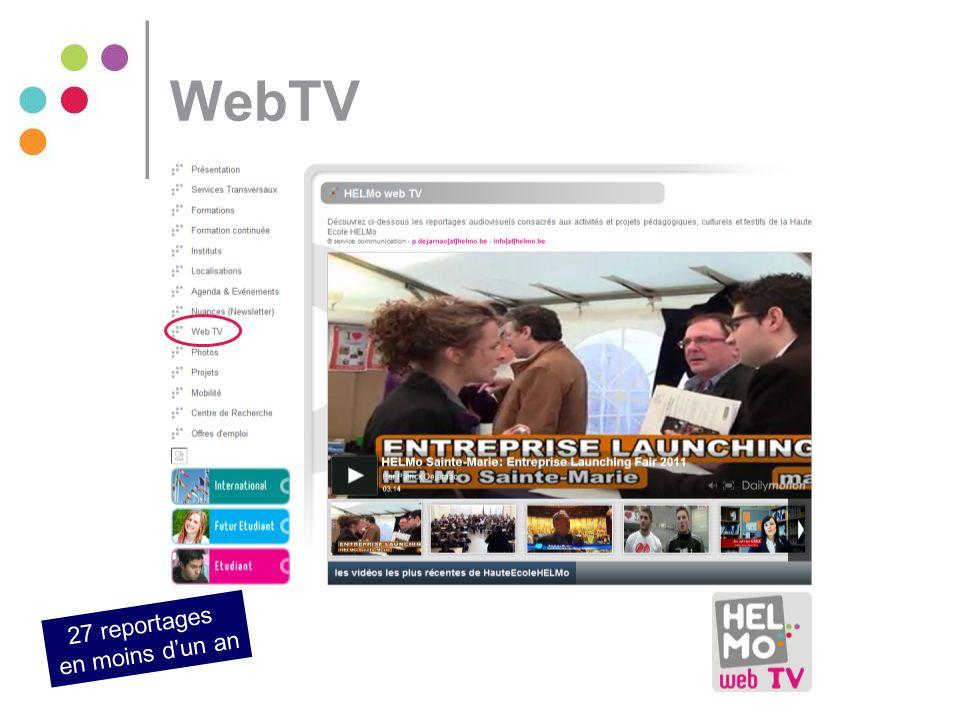WebTV 27 reportages en moins d'un an