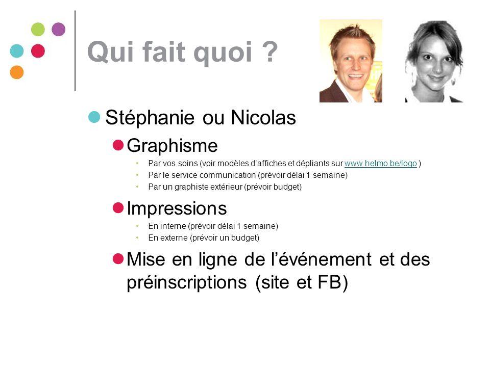 Qui fait quoi Stéphanie ou Nicolas Graphisme Impressions