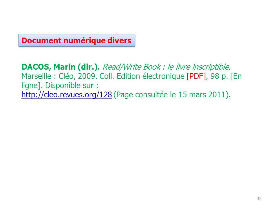 Document numérique divers