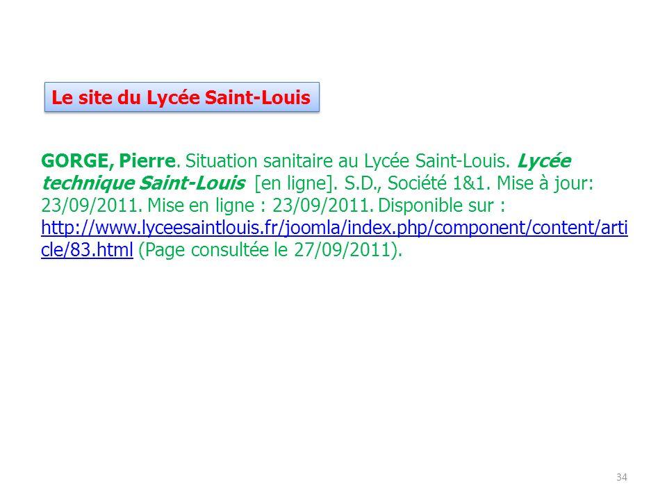 Le site du Lycée Saint-Louis