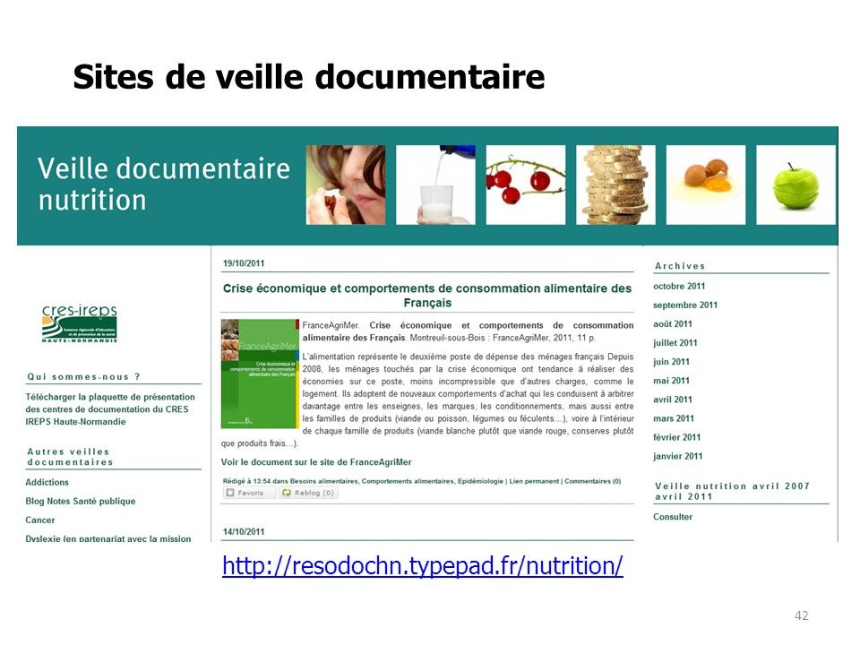 Sites de veille documentaire