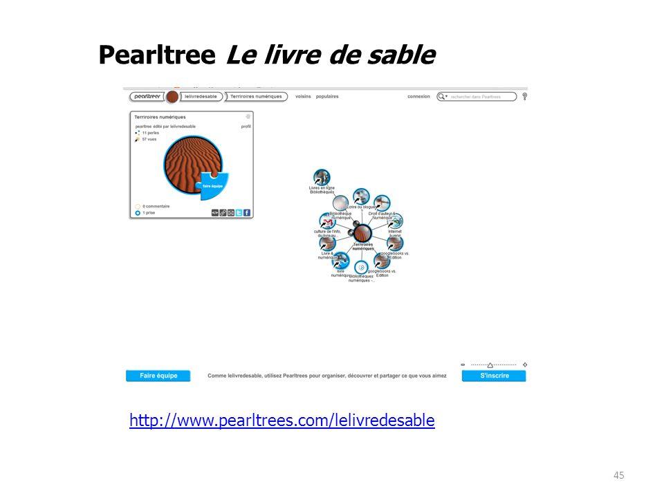 Pearltree Le livre de sable