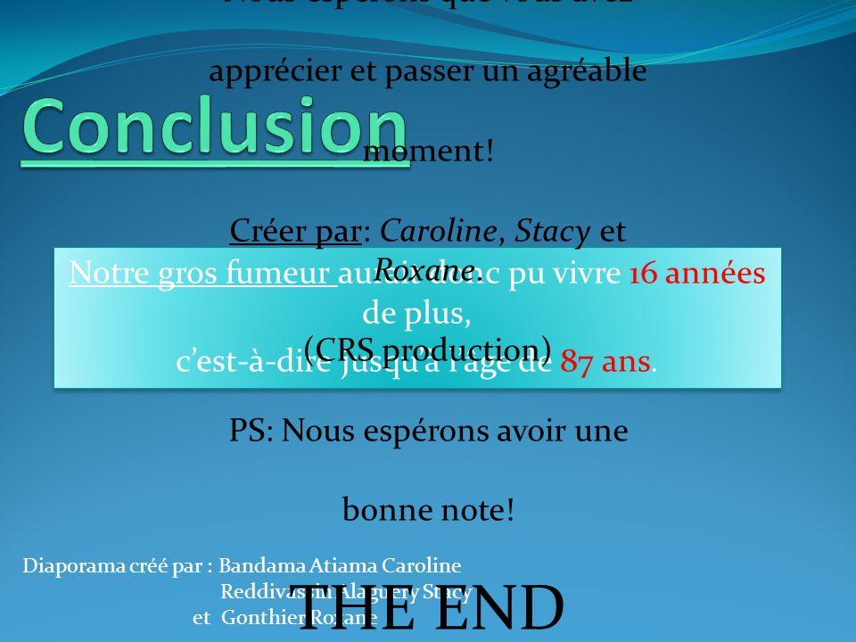 Conclusion THE END Et voilà c'est terminer!