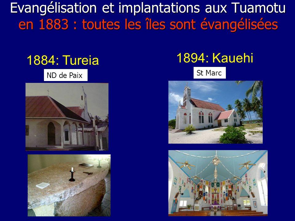 Evangélisation et implantations aux Tuamotu en 1883 : toutes les îles sont évangélisées