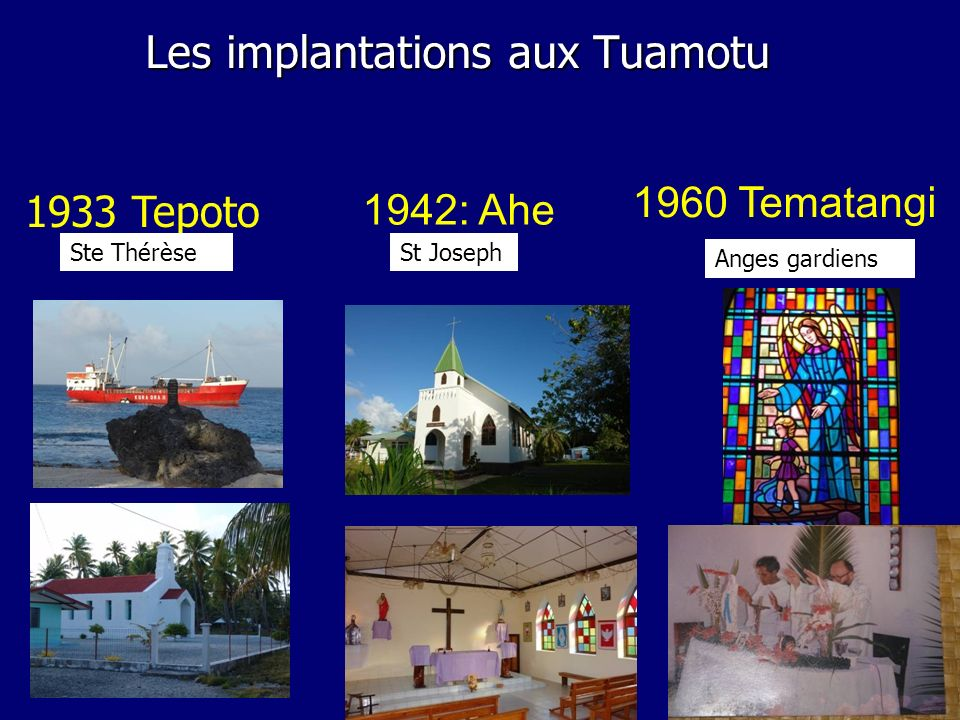 Les implantations aux Tuamotu
