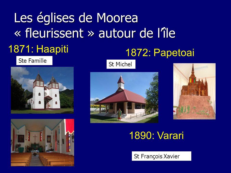 Les églises de Moorea « fleurissent » autour de l'île