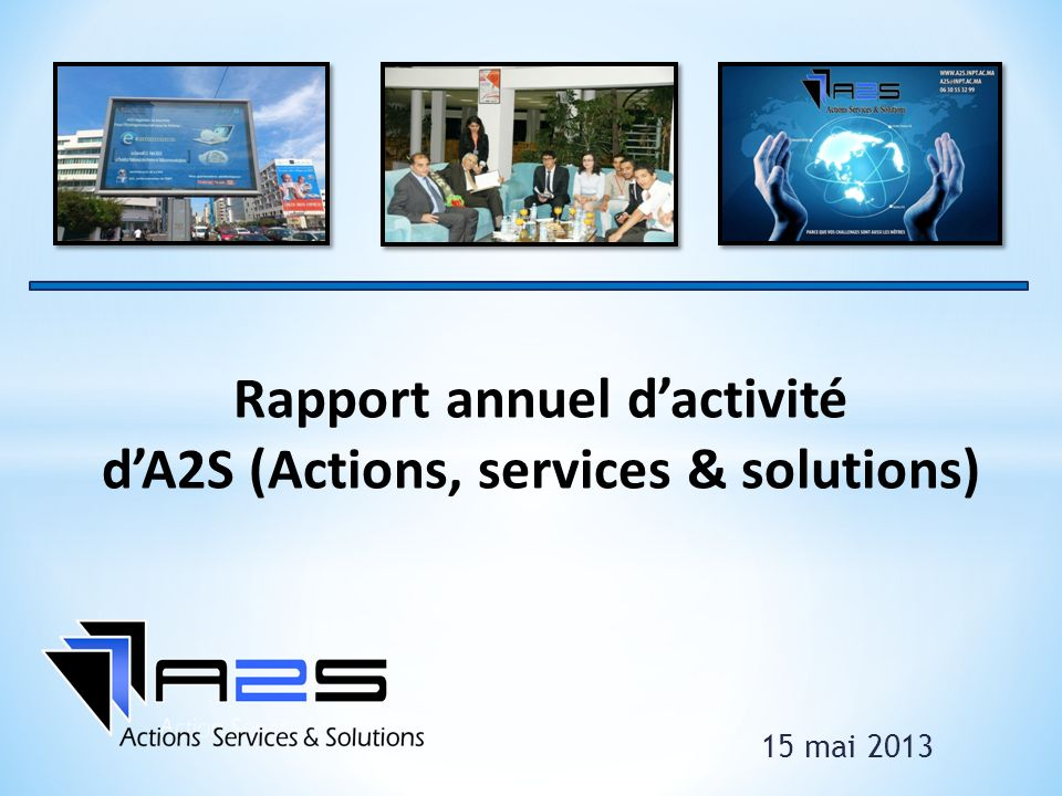 Rapport annuel d'activité d'A2S (Actions, services & solutions)