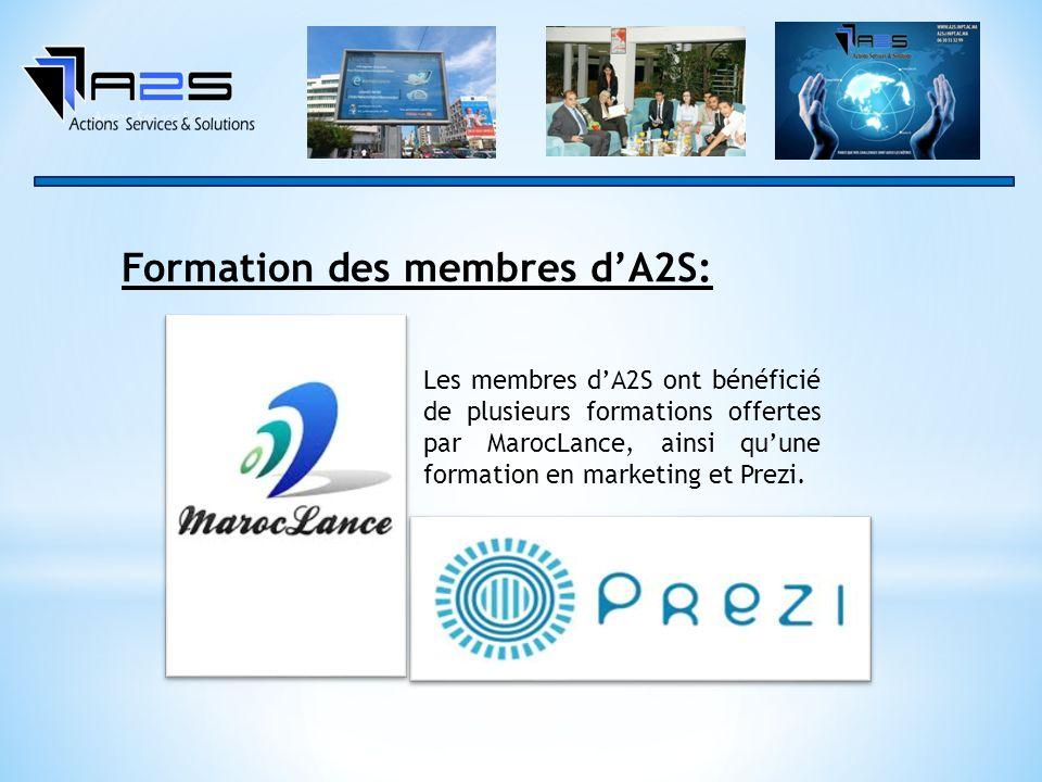 Formation des membres d'A2S: