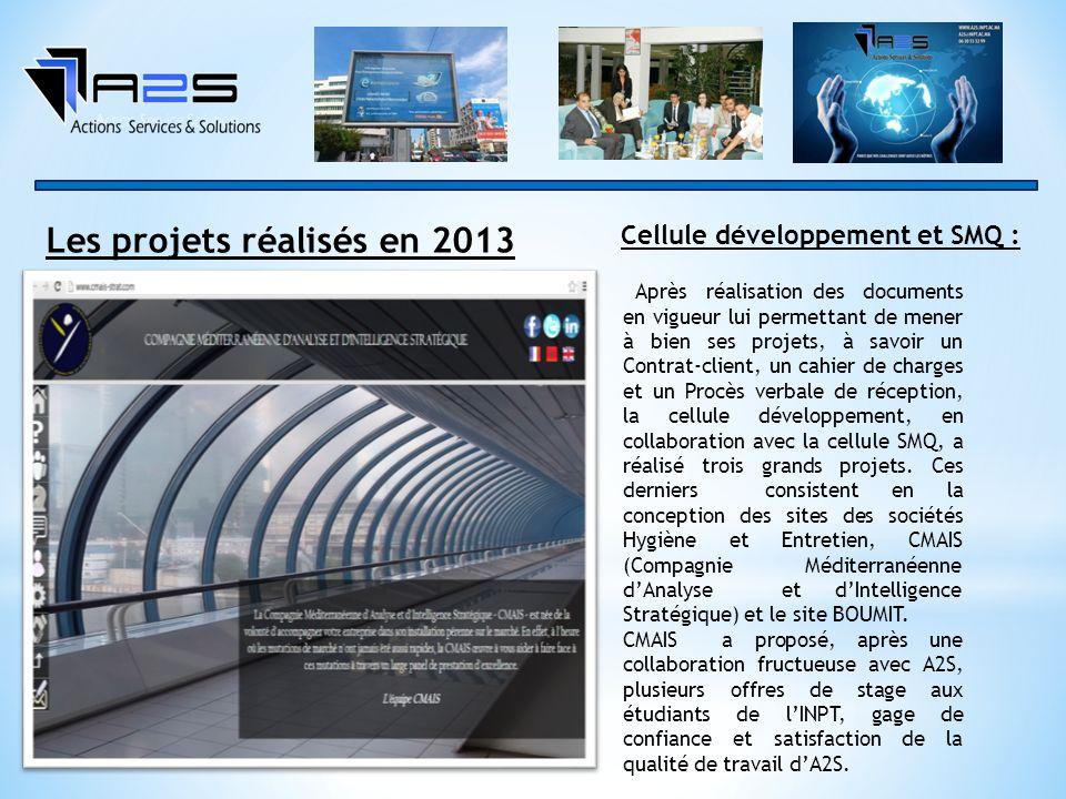 Les projets réalisés en 2013
