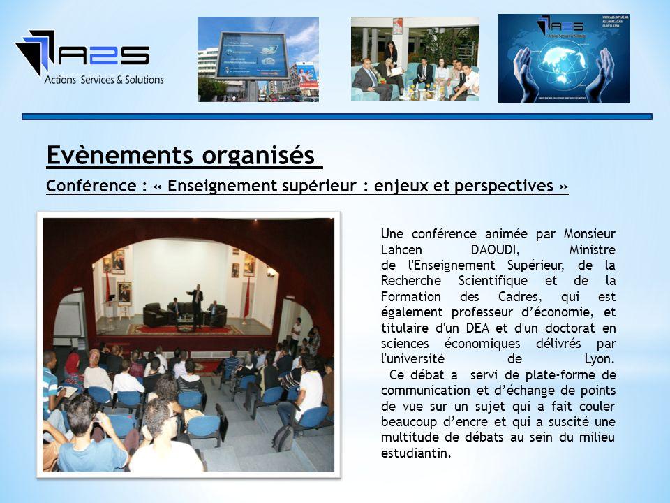Evènements organisés Conférence : « Enseignement supérieur : enjeux et perspectives »