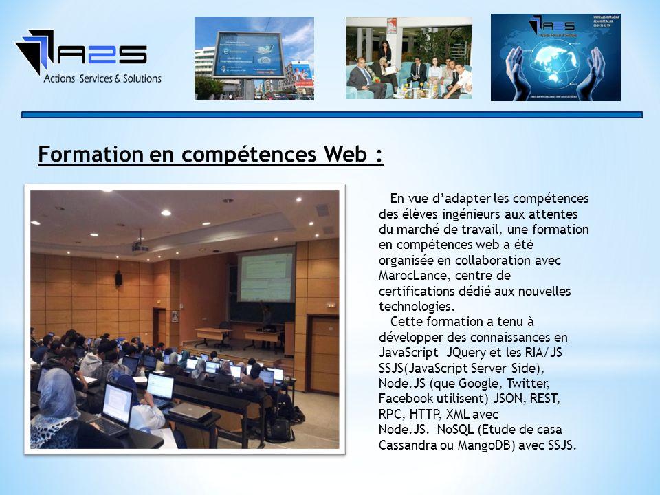 Formation en compétences Web :