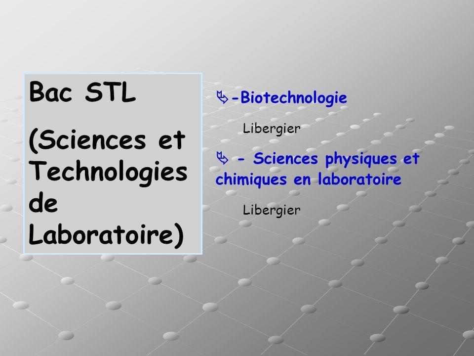 (Sciences et Technologies de Laboratoire)