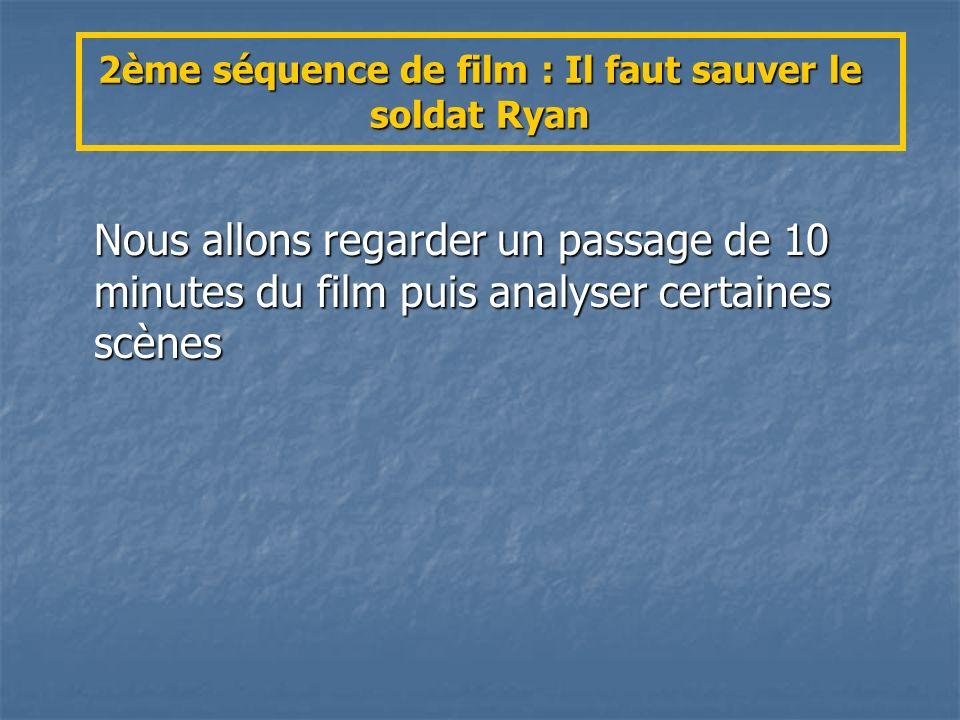 2ème séquence de film : Il faut sauver le soldat Ryan