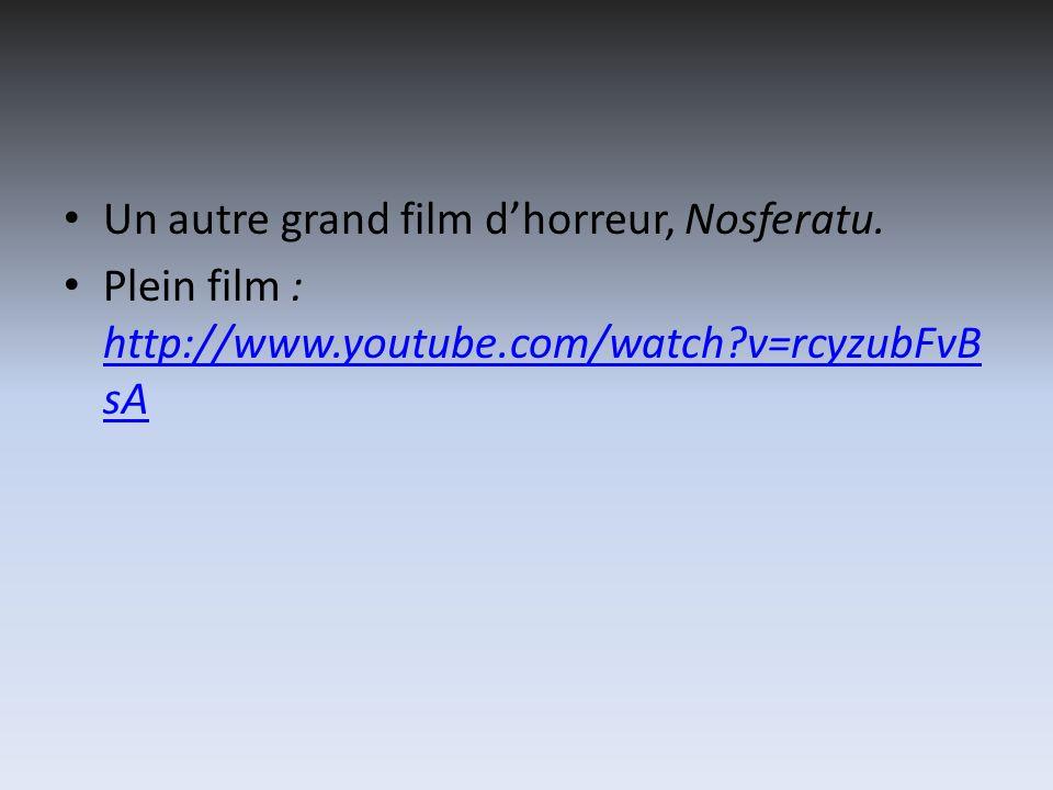 Un autre grand film d'horreur, Nosferatu.