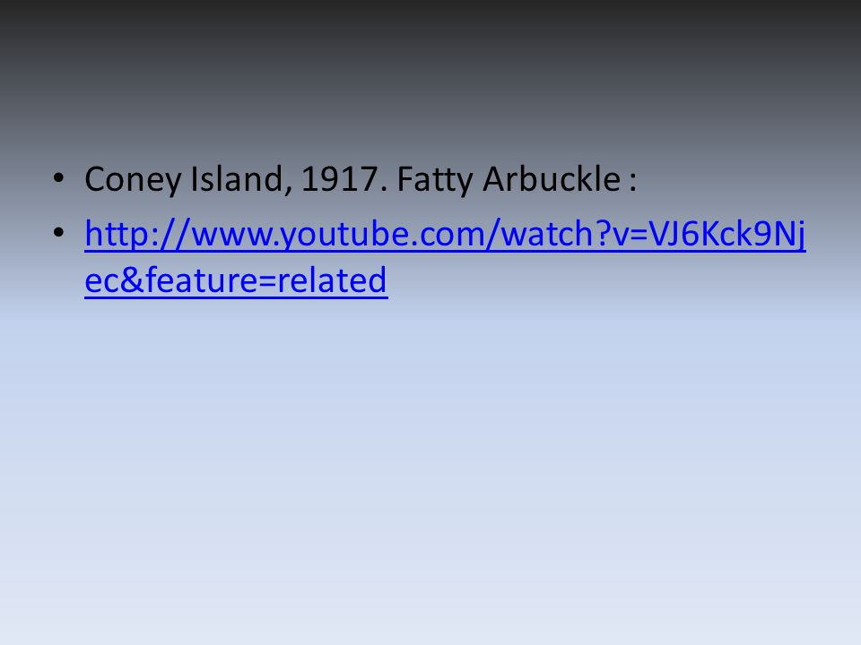 Coney Island, 1917. Fatty Arbuckle :