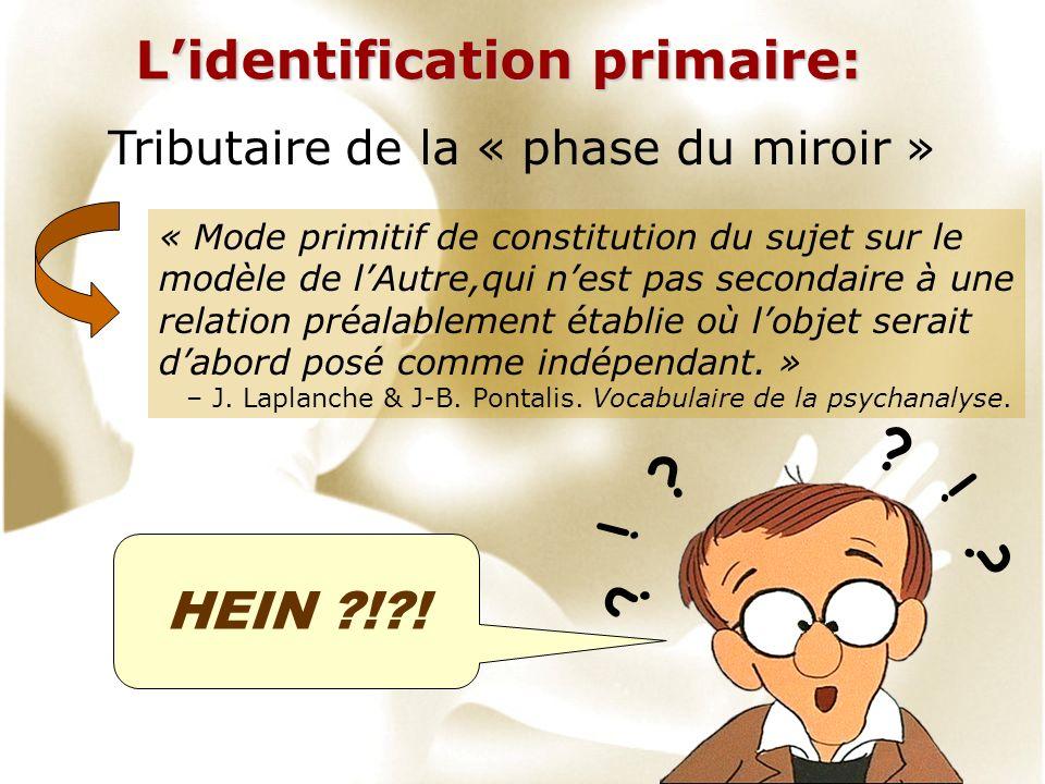 L'identification primaire: