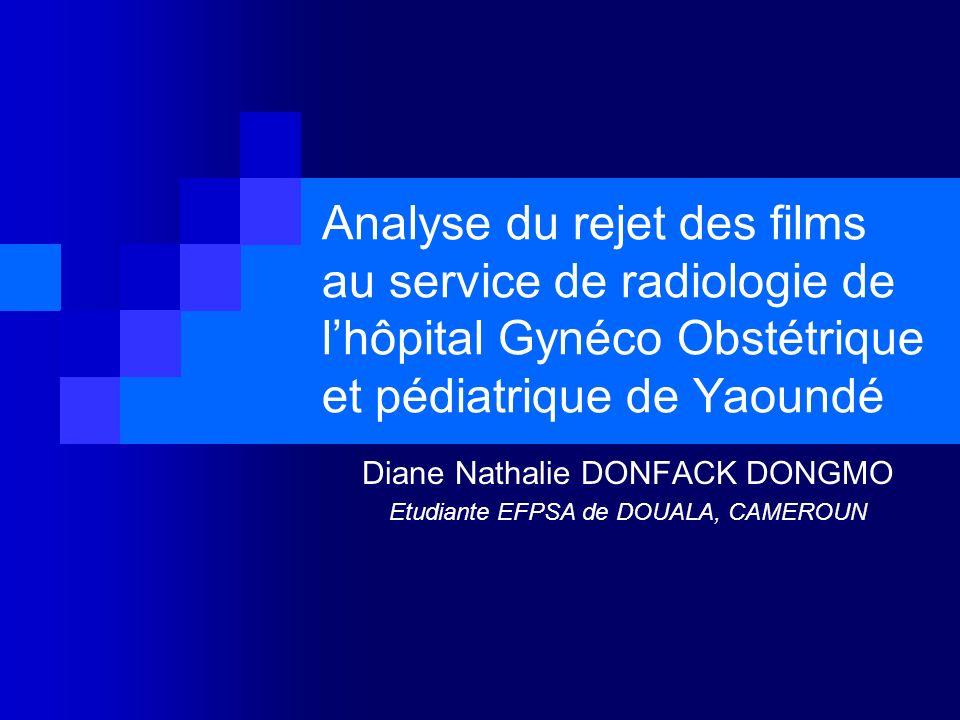 Diane Nathalie DONFACK DONGMO Etudiante EFPSA de DOUALA, CAMEROUN