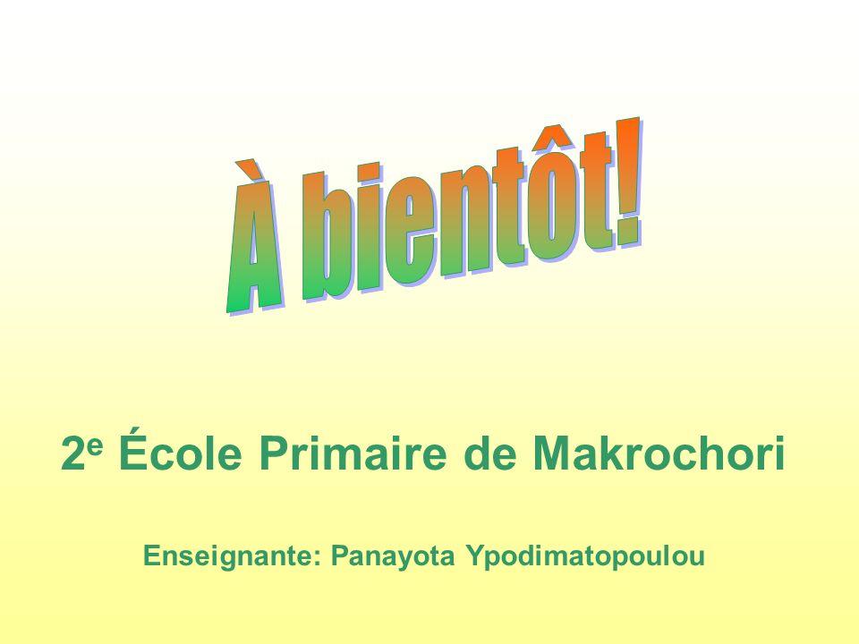 2e École Primaire de Makrochori Enseignante: Panayota Ypodimatopoulou