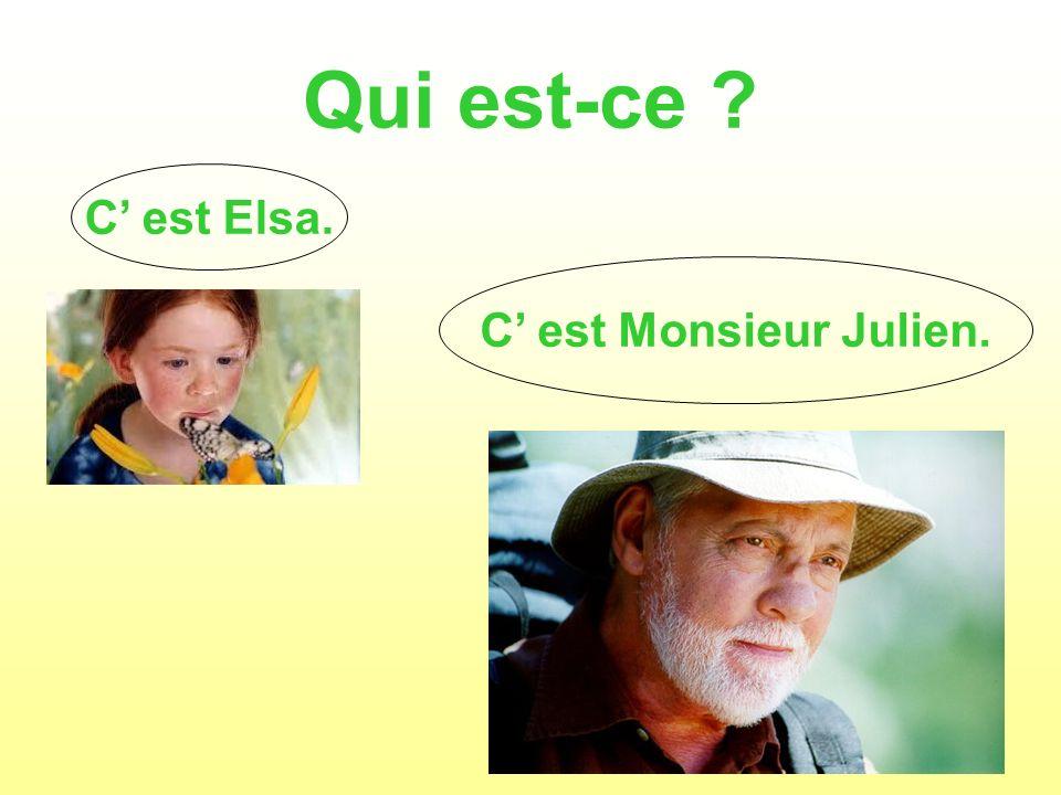 Qui est-ce C' est Elsa. C' est Monsieur Julien.