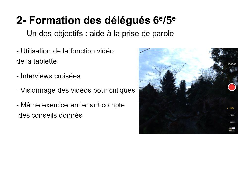 2- Formation des délégués 6e/5e