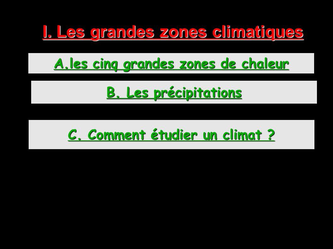 I. Les grandes zones climatiques C. Comment étudier un climat