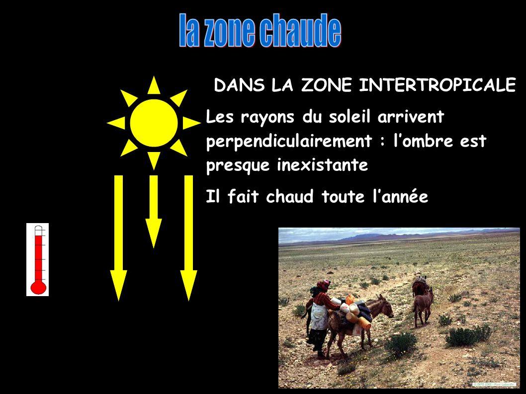 la zone chaude DANS LA ZONE INTERTROPICALE