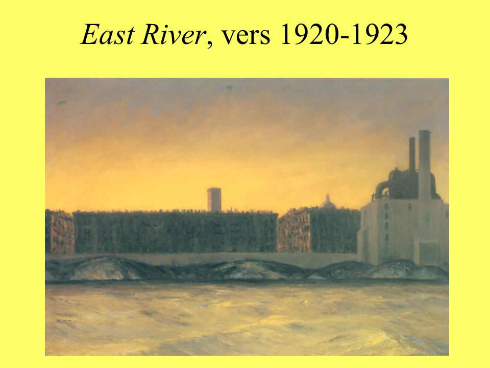 East River, vers 1920-1923