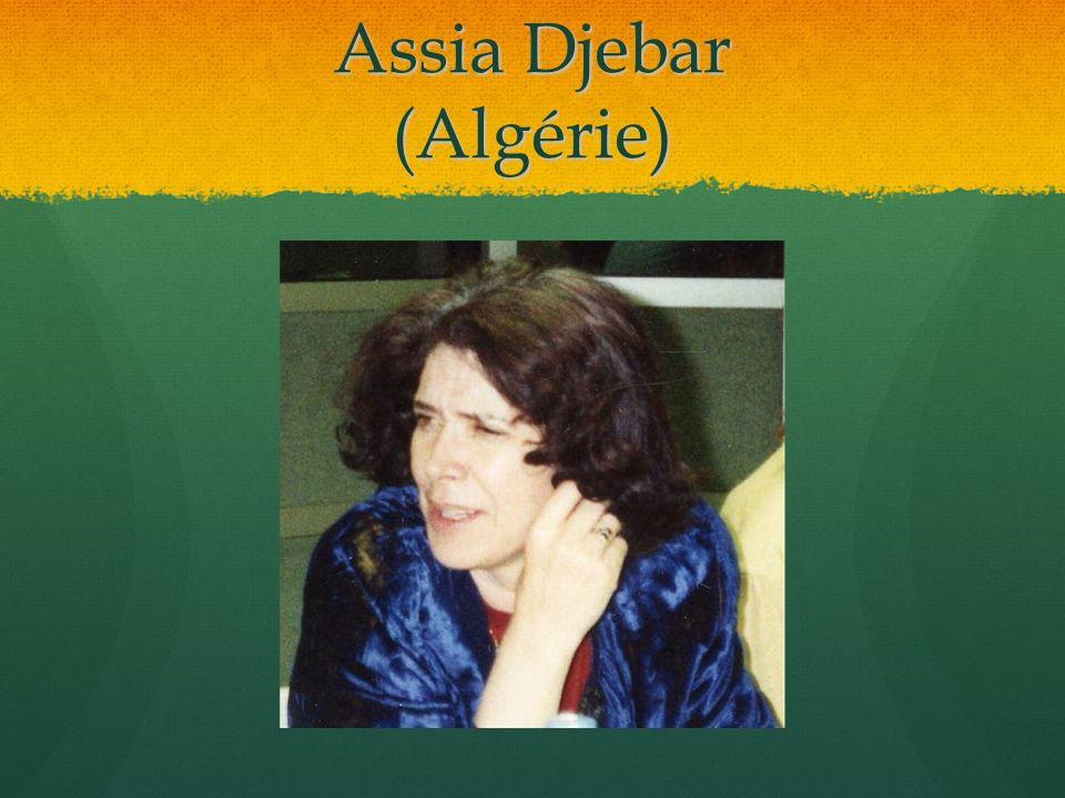 Assia Djebar (Algérie)