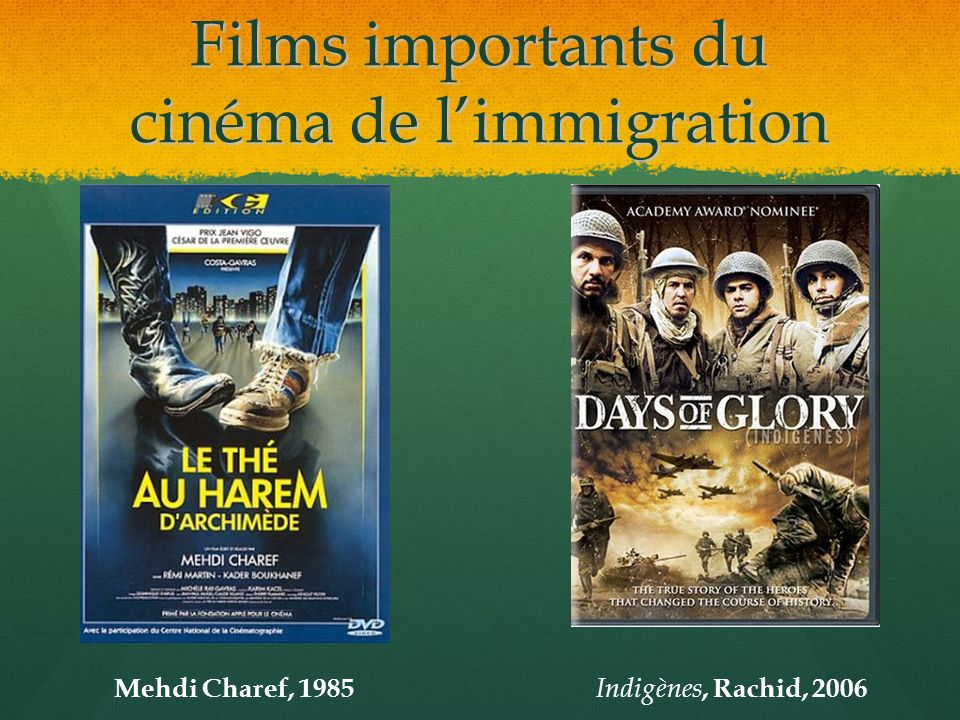 Films importants du cinéma de l'immigration
