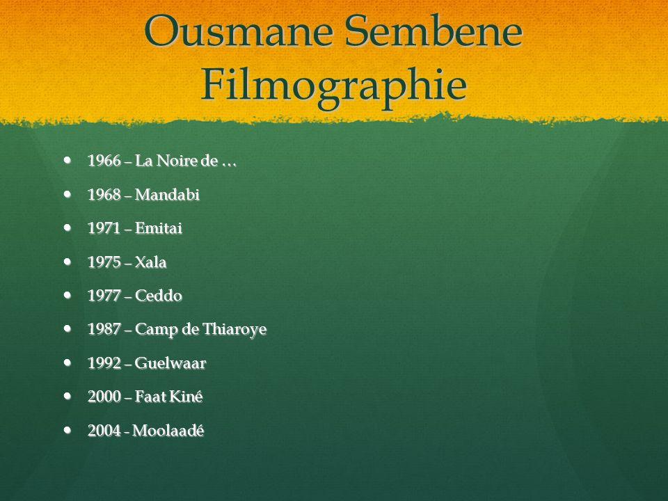 Ousmane Sembene Filmographie