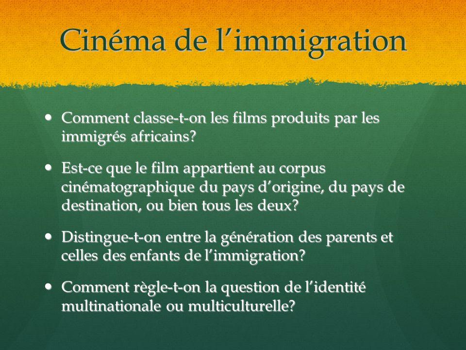 Cinéma de l'immigration