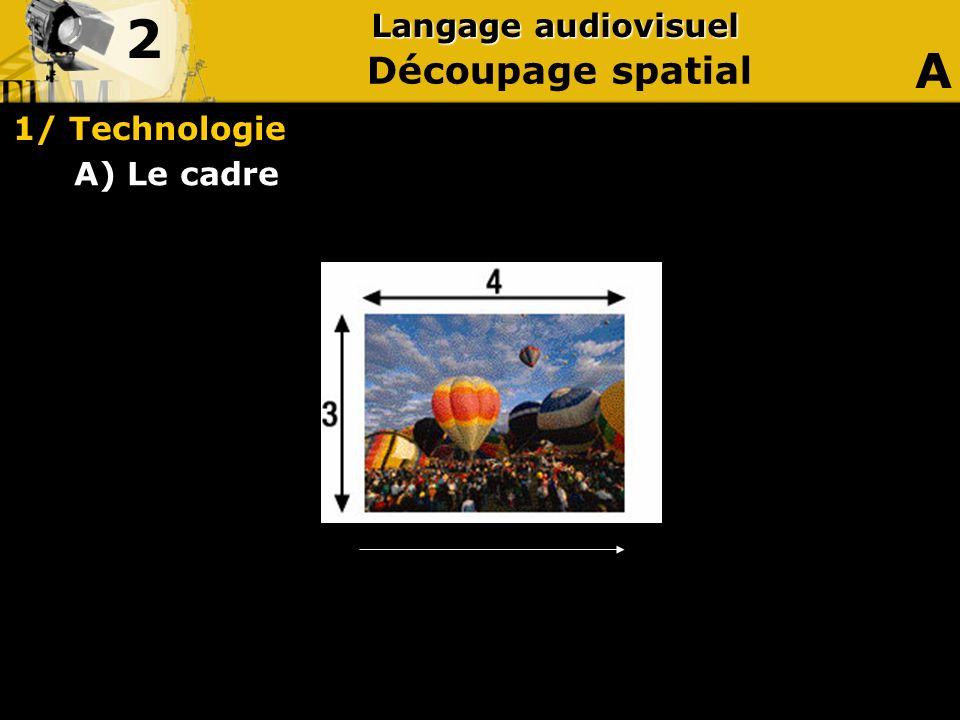 2 Langage audiovisuel A Découpage spatial 1/ Technologie A) Le cadre