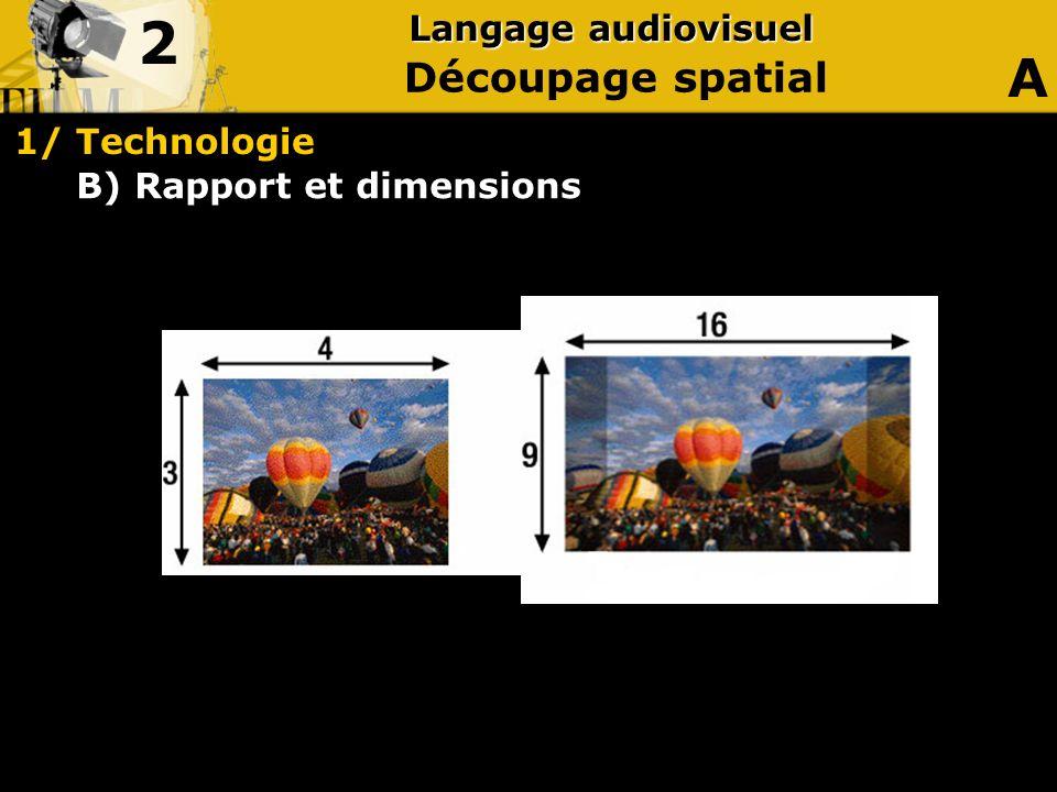 B) Rapport et dimensions