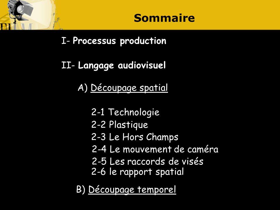B) Découpage temporel Sommaire I- Processus production