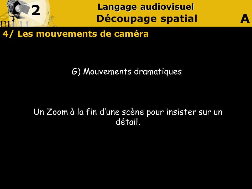 4/ Les mouvements de caméra