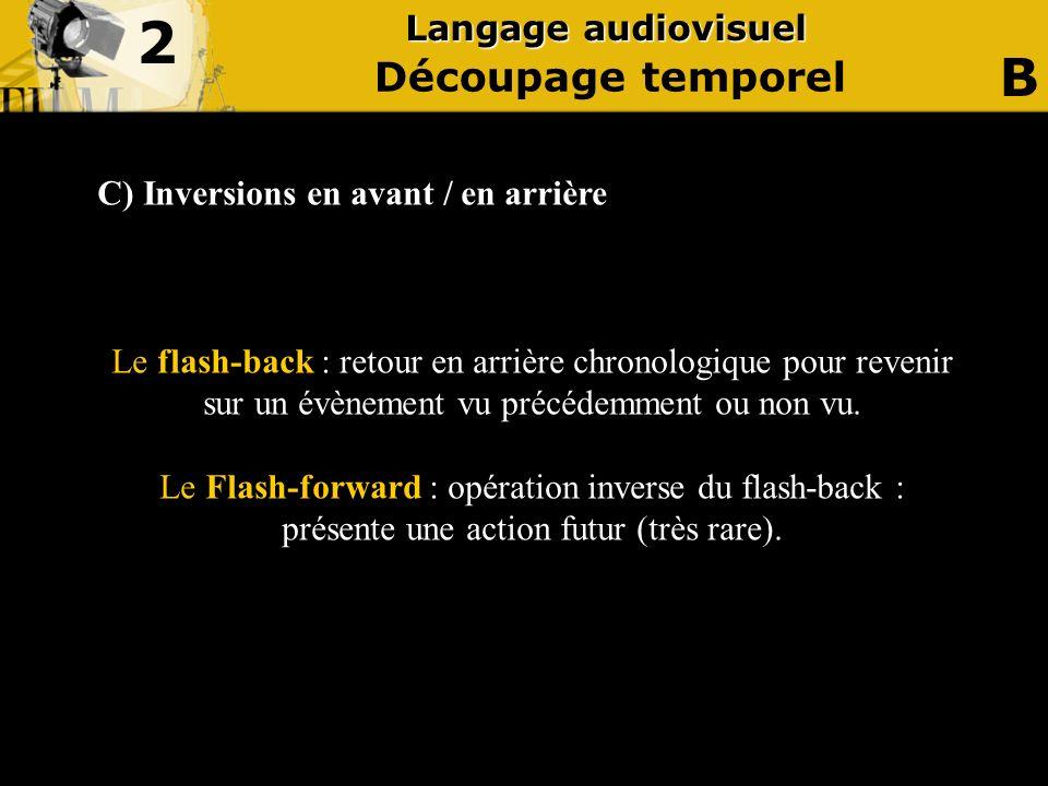 2 B Découpage temporel Langage audiovisuel