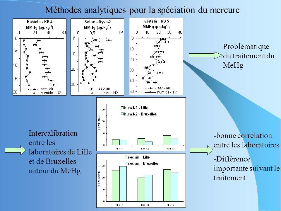 Méthodes analytiques pour la spéciation du mercure