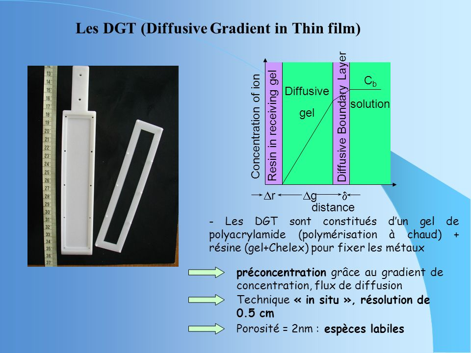 Les DGT (Diffusive Gradient in Thin film)