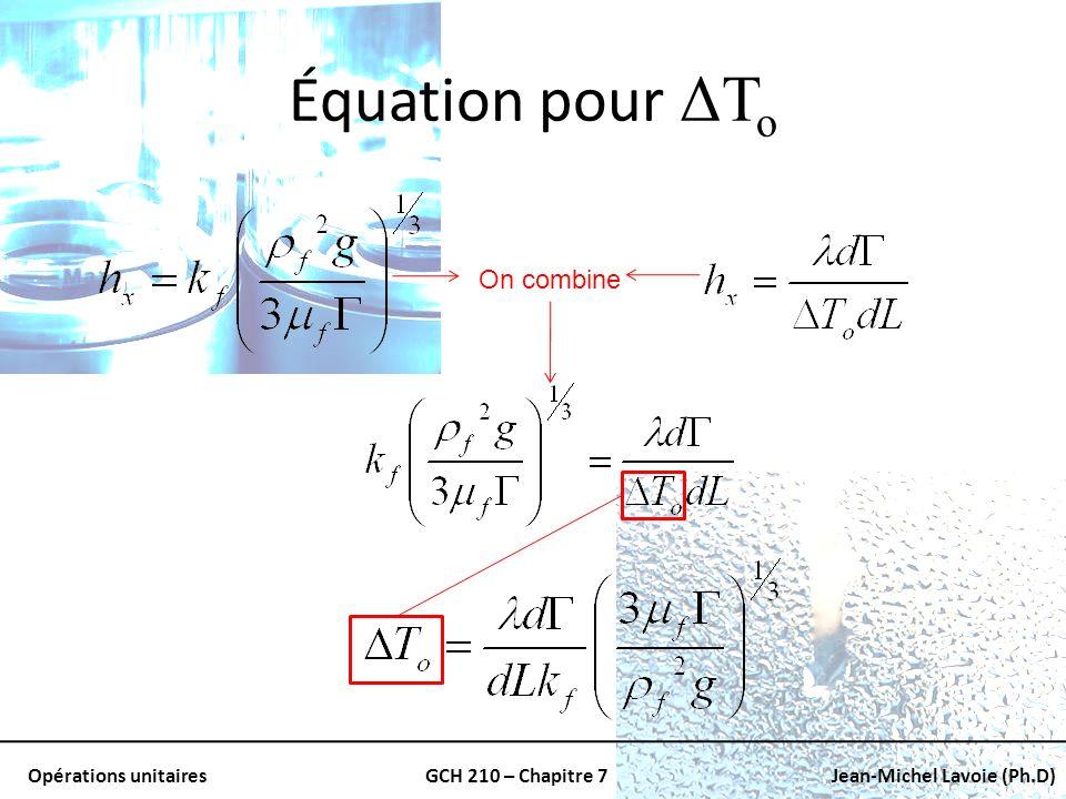 Équation pour ΔTo On combine
