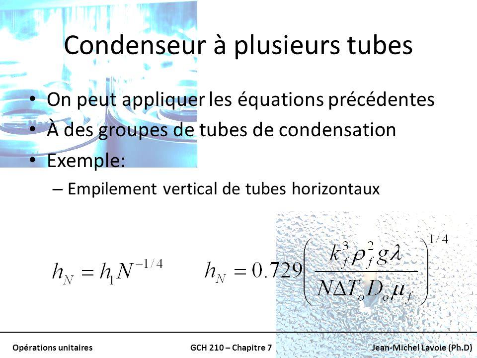 Condenseur à plusieurs tubes