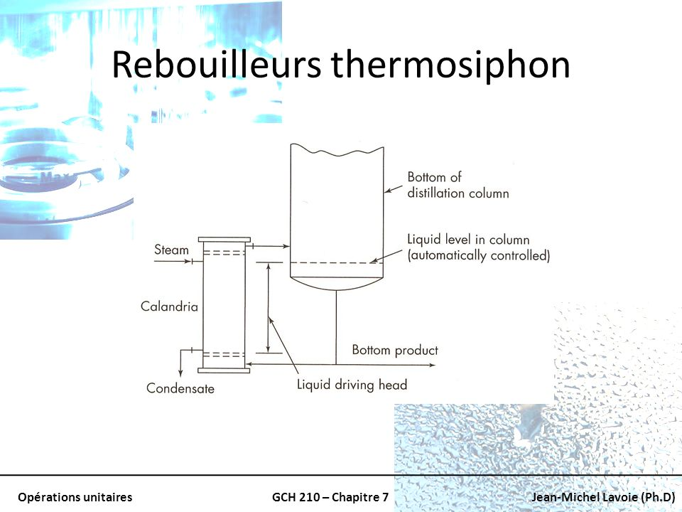 Rebouilleurs thermosiphon