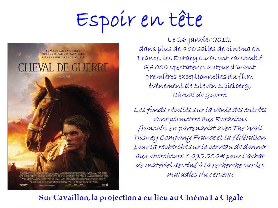 Sur Cavaillon, la projection a eu lieu au Cinéma La Cigale