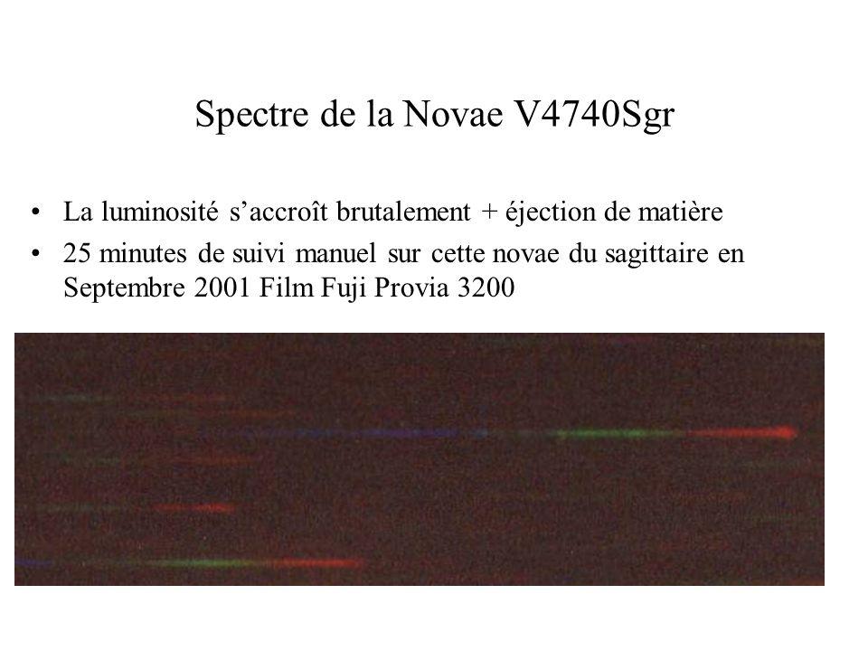 Spectre de la Novae V4740Sgr