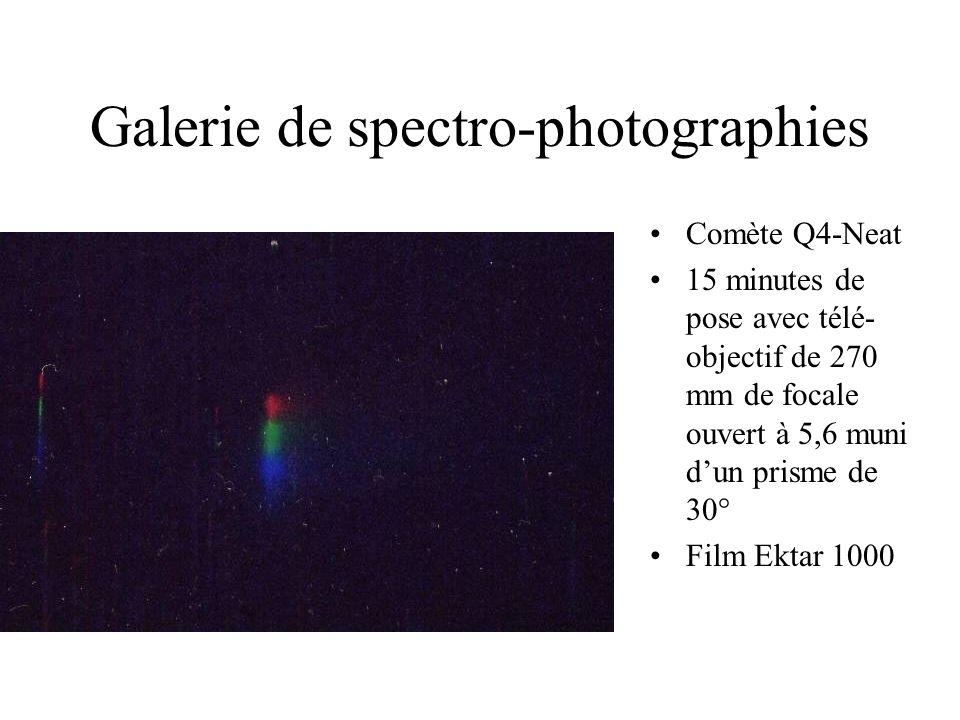 Galerie de spectro-photographies