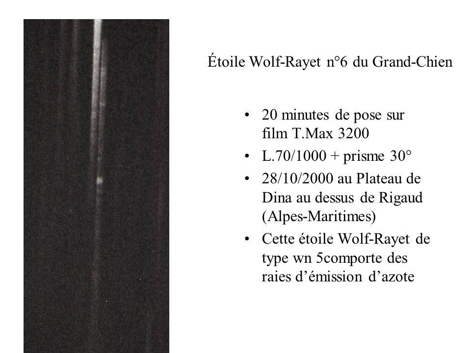 Étoile Wolf-Rayet n°6 du Grand-Chien