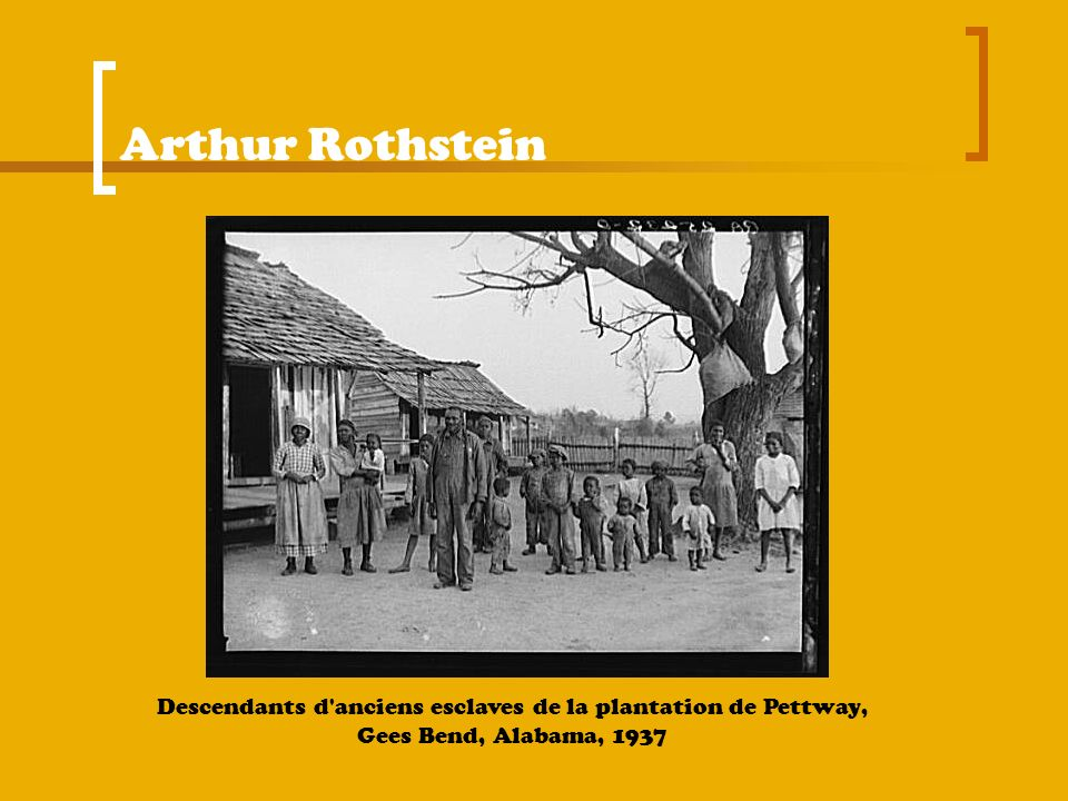 Arthur Rothstein Descendants d anciens esclaves de la plantation de Pettway, Gees Bend, Alabama, 1937.