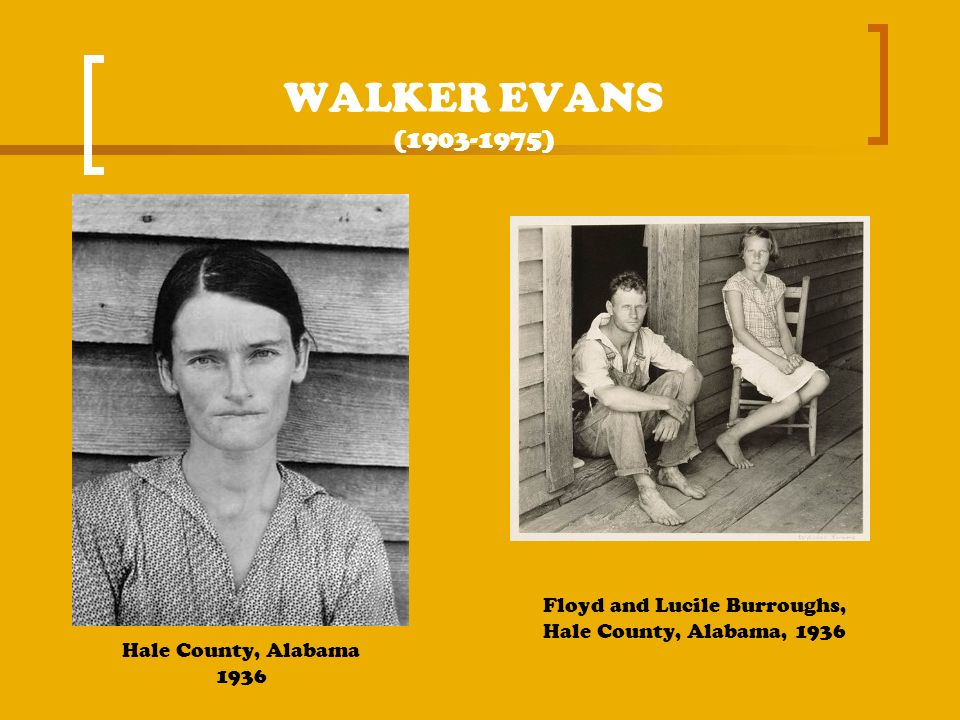 WALKER EVANS (1903-1975) Floyd and Lucile Burroughs, Hale County, Alabama, 1936.